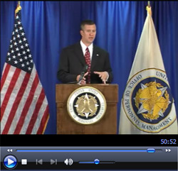 Screen shot of Veteran's Preference and Federal Employment video