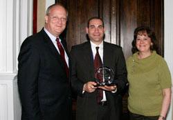 Pictured are David Wennergren, Michael Sorrento, and Karen Evans.