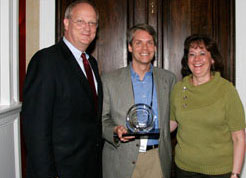 Pictured are David Wennergren, John Moses, and Karen Evans.