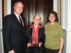 Pictured are David Wennergren, Darelene Meskell, and Karen Evans.