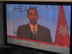 Deputy Secretary Tevi Troy on Jordanian evening news. (Photo Credit: Matt Shiraki, HHS)
