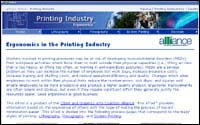 Ergonomics in the Printing Industry