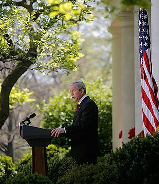 President Bush Discusses Climate Change