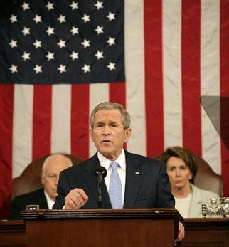 President Bush gives his 2007 State of the Union Address