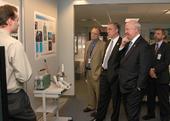 Secretary Bodman with Assistant Secretary for Fossil Energy Jeff Jarrett, Congressman Tim Murphy (R-PA), & Researcher