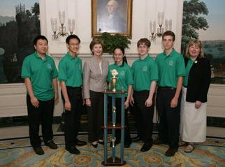 First Lady Laura Bush welcomes the 2006 DOE National Science Bowl Champions