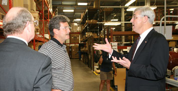 U.S. Commerce Assistsant Secretary William G. Sutton leads the first Sustainable Manufacturing American Regional Tour at Sunnen Products.