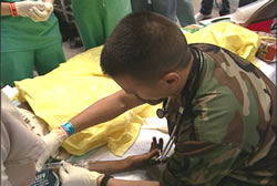 photo of Commissioned Corps medical officer in the Gulf Region during Hurricanes Katrina and Rita.