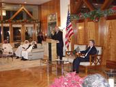 Secretary Bodman Hosts a Roundtable Discussion with Media in Riyadh, Saudi Arabia