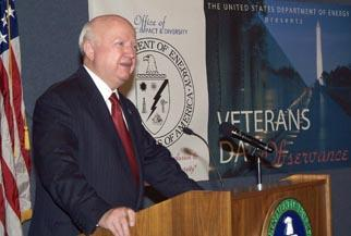 Secretary Bodman at the Veterans Day Special Emphasis Program