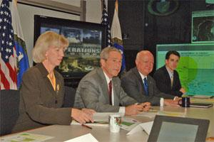President Bush receives an update on the Nation's energy infrastructure
