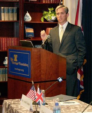 Deputy Secretary Sell speaks at the Margaret Thatcher Center for Freedom