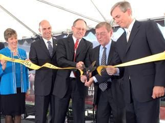 Deputy Secretary Sell, Senator Domenici, and DOE leadership at the MESA Complex openning