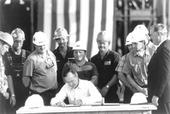 President Bush signs the Energy Policy Act of 1992