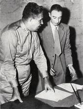 Leslie R. Groves and J. Robert Oppenheimer