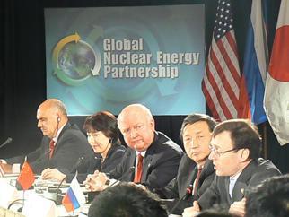 Secretary Bodman participates in a GNEP press conference