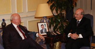Secretary Bodman met with Jordan's Prime Minister Nader al-Dahabi