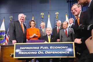 President Bush signing the Energy Independence And Security Act of 2007