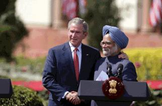 President Bush and Indian Prime Minister Singh