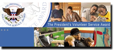 thumbnail version of Presidential Service Awards logo depicting Federal employees helping others