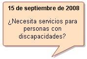 Pregunta del día para el 15 de septiembre de 2008. ¿Necesita servicios para personas con discapacidades?