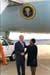 President George W. Bush met Linda Clark upon arrival in Knoxville, Tennessee, tomorrow. Clark has been an active volunteer in the Knoxville community for over 26 years.