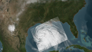 Hurricane Ike is an is exceptionally large storm. Hurricane-force winds extend outward 120 miles from the center, while tropical storm-force winds extend up to 275 miles