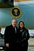 President George W. Bush met Mila Nguyen upon arrival in Pittsburgh, Pennsylvania, on Tuesday, December 2, 2003. Nguyen is an active volunteer with Pittsburgh Cares and Big Brothers Big Sisters of America.