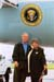 President George W. Bush met Shirley Moore upon arrival in Cleveland, Ohio, on Monday, September 1, 2003.  Moore, a retired teacher, is an active volunteer with the Retired and Senior Volunteer Program (RSVP) Experience Corps.