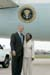 President George W. Bush met Daffney Moore upon arrival in St. Charles, Missouri, on Tuesday, July 20, 2004. Moore is an active volunteer with Connections to Success, a regional non-profit organization that provides services to help women and families in the welfare system improve their independence and economic self-reliance.