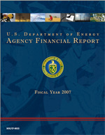 Cover for the 2007 Performance and Accountability Report