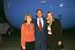"""President George W. Bush met Carol Vaughn and JoAn Niceley upon arrival in Gulfport, Mississippi, on Saturday, November 1, 2003.  Vaughn and Niceley have been active volunteers with the American Cancer Society's """"Look Good … Feel Better"""" program."""