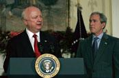 Secretary Bodman and President Bush