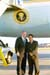 President George W. Bush met Dr. Mark Asperilla upon arrival in Ft. Myers, Florida, on Thursday, November 13, 2003.   Asperilla, an infectious disease specialist, is an active volunteer with the Medical Reserve Corps.