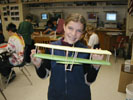Erin's playing with a Model plane at Ornoco Middle school