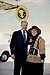 President George W. Bush met Billiee Pendleton-Parker upon arrival in Atlanta, Georgia, on Thursday, January 15, 2004.  Pendleton-Parker has been an active volunteer with Hands On Atlanta for the past four years.