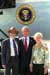 President George W. Bush met Edward and Jane Bardon upon arrival in Minneapolis, Minnesota, on Tuesday, August 26, 2003.  In September, the Bardons will travel to Turkmenistan to begin their two-year service as Peace Corps volunteers.  Throughout their lives, 70-year old Edward and 68-year old Jane have sought opportunities to serve.