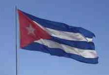 Waving flag of the Republic of Cuba.
