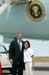President George W. Bush met Phuong Nguyen upon arrival in Denver, Colorado, on Monday, August 11, 2003.  A recent graduate of George Washington High School, Nguyen is a longtime volunteer with the American Red Cross (ARC) Youth Corps.