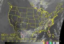 GOES-12 Satellite Infrared Image