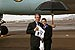 President George W. Bush met Hilary Juel upon arrival in Phoenix, Arizona, on Wednesday, January 21, 2004.  Juel has been an active volunteer with the Make A Difference organization since 1997.