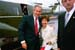 President George W. Bush met Ruth Campanario upon arrival in New Britain, Connecticut, on Thursday, June 12, 2003. Campanario has volunteered with several local organizations through the Retired and Senior Volunteer Program since 1990.