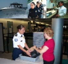 Homeland Security Employees working in many different fields