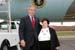 President George W. Bush met Dolly Yunkunis upon arrival in Wilkes-Barre, Pennsylvania, on Friday, October 22, 2004.  Yunkunis, 75, is an active volunteer at the Kingston Senior Center.