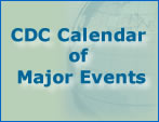CDC Calendar of major events