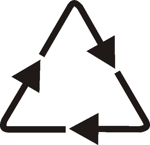 The recycling symbol - a triangle with three arrows