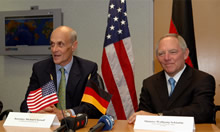 Secretary Chertoff with German Interior Minister Schauble