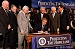 """President George W. Bush signs the Homeland Security Appropriations Act of 2004 at the Department of Homeland Security in Washington, D.C., Wednesday, Oct. 1, 2003. """"The Homeland Security bill I will sign today commits $31 billion to securing our nation, over $14 billion more than pre-September 11th levels. The bill increases funding for the key responsibilities at the Department of Homeland Security and supports important new initiatives across the Department,"""" said the President in his remarks."""