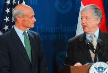 Secretary Michael Chertoff with Hungarian Ambassador Ferenc Somogyi