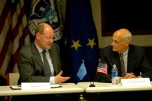 Secretary Chertoff with MEP Jonathan Evans